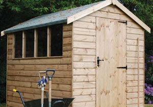 Regency - Popular Apex, low cost wooden shed