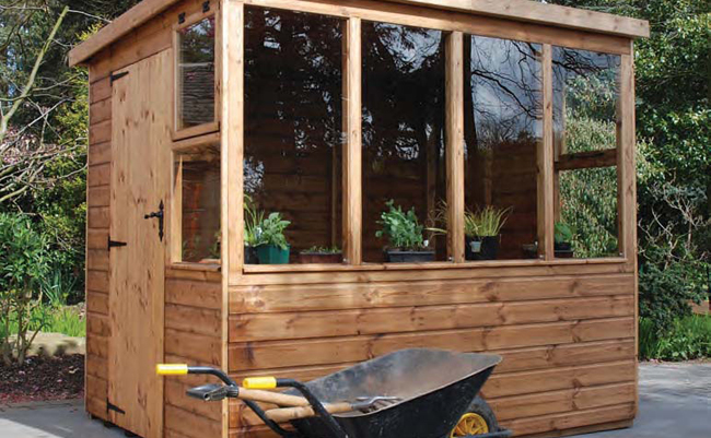 The Potter wooden shed